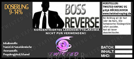 Boss Reverse (Chief Reverse) - Aroma Twisted 10ml