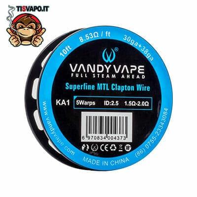 Superfine MTL Clapton Wire Kanthal A1 30ga + 38ga Vandy Vape