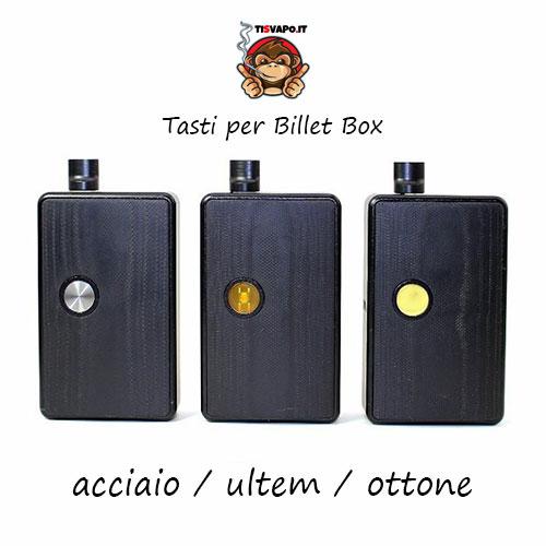 Tasti per Billet Box (acciaio, ultem e ottone)