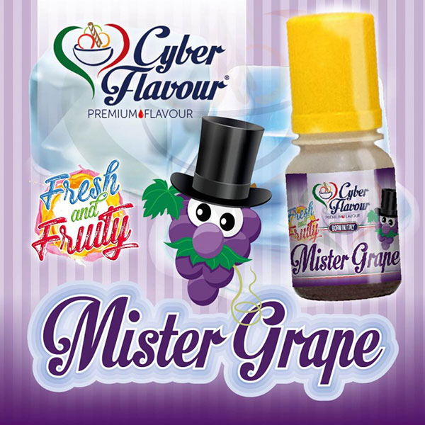 Mr GRAPE Fresh and Fruity aroma da 10ml. - Cyber Flavour