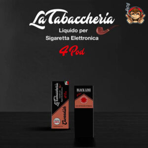 Black Cavendish - Black Line 4Pod - Liquido Pronto 10ml - La Tabaccheria
