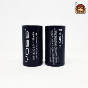 Yoss batteria ricaricabile 18350 1100mah 15A