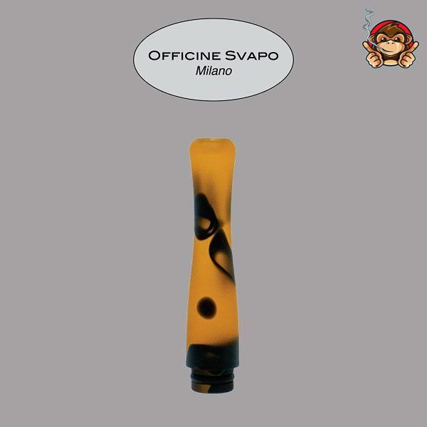 Drip Tip POSEIDONE Metacrilato Nero/Arancio Maculato - Officine Svapo