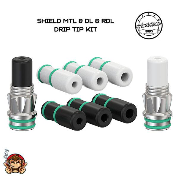 Shield Drip Tip MTL DL RDL - Ambition Mods