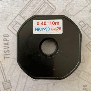 Filo Resistivo ZIVIPF NiChrome Ni90 26ga 0.40mm